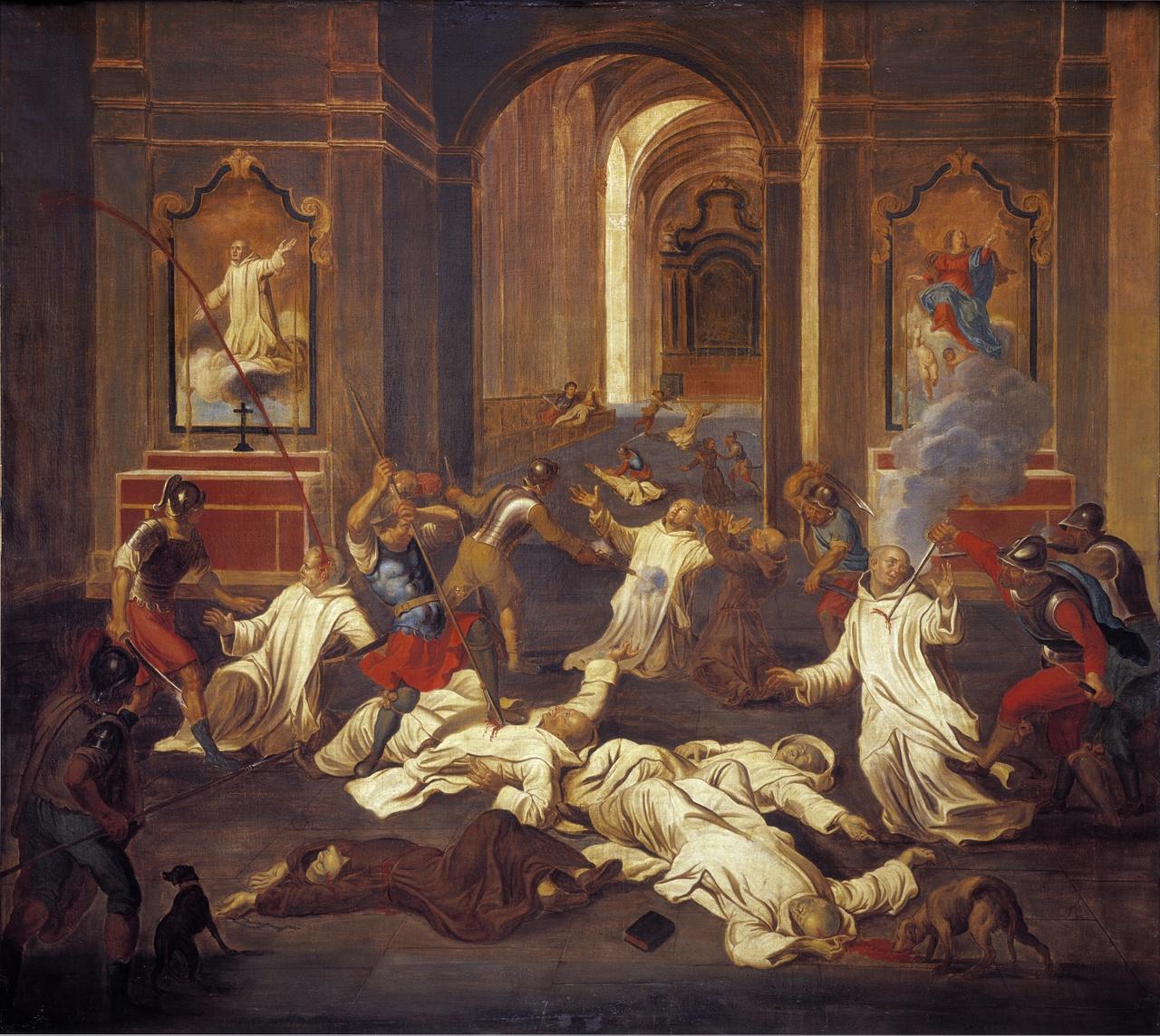Schilderij van de Roermondse kartuizermoord